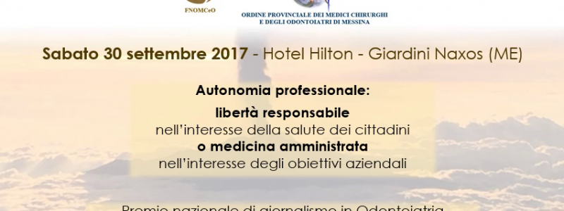 """La Fnomceo si interroga su """"Sanità e autonomia professionale"""". Tre giorni di lavoro in Sicilia"""